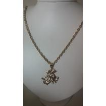 Cordao E Medalha Em Ouro 18k 750