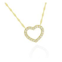 Corrente De Ouro 18k 45cm+ Pingente De Ouro 18k Coração