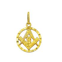 Leão Jóias Pingente Medalha Maçon Ouro 18k 1,4 Cm