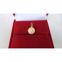 Medalha Pingente 4 Ducados Ouro 18k 750 C/ 0,6 Gr