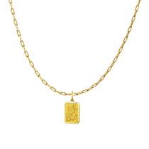 Pingente Medalha São Jorge + Corrente Ouro 18k
