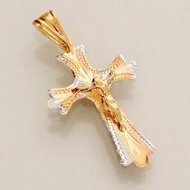 Pingente Crucifixo Ouro 18k Cruz Masculino Frete Grátis