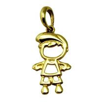 Pingente Menino Vazado Em Ouro 18k Amarelo - K0.7 - Ou0070