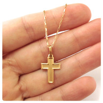 Crucifixo Pingente Cruz Masculino Em Ouro Maciço 18k - 750