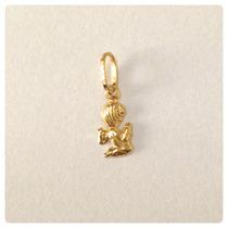 Pingente Anjo Da Guarda Ouro Amarelo 18k/750 Com Certificado