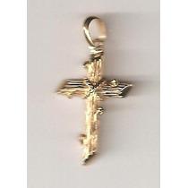 Pingente - Crucifixo - Ouro 18 K - 750 - Peça Única!