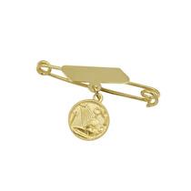Alfinete E Medalha Ouro18k Batismo Jr Joalheiro.