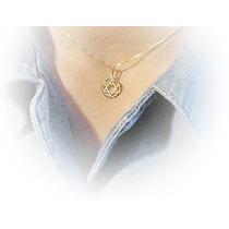 Pingente Medalha Estrela De Davi Ouro Amarelo 18k Trabalhado