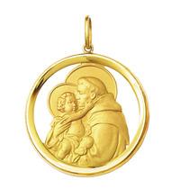 Medalha Santo Antônio Ouro 18k 6gr Grande-com Certificado