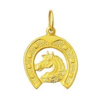 Pingente Ferradura Cavalo 2,3cm De Ouro 18k Com Certificado