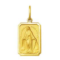 Pingente Medalha Nossa Senhora Das Graças Ouro 1,1cm 18k