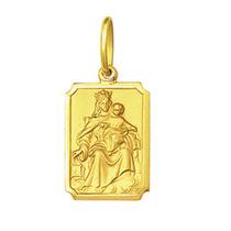 Pingente Medalha Nossa Senhora Do Carmo Ouro 18k Médio