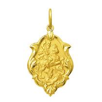 Corrente + Medalha São Jorge Ouro 18k 1 Cm Com Certificado
