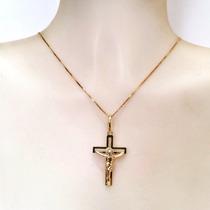 Pingente Crucifixo Masculino Ouro 18k Certificado Maravilhos