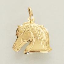 Pingente Cavalo De Ouro 18k (750) Feminino Masculino
