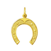 Leão Jóias Pingente Ferradura Em Ouro 18k 2,3cm Grande