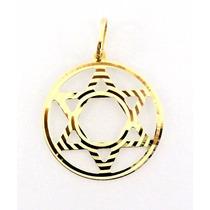 Pingente Estrela De Davi Em Ouro 18k/750