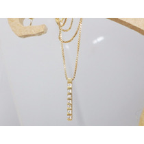 Boqueiraojoias Corrente Pingente 7 Diamantes Ouro 18k-750