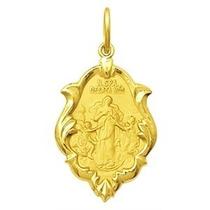 Medalha Nossa Senhora Desatadora Dos Nós Ouro 750 2,1cm1,3g