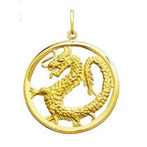 Leão Jóias Pingente Dragão Em Ouro 18k 3,4 Cm Certificado