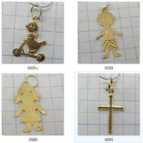80 Reais Pingente De Letra A Escolher Ouro 18k 750 Lote 0514