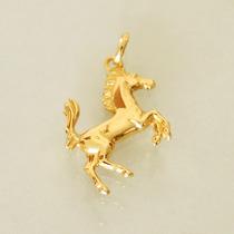 Pingente Cavalo Ferrari Ouro 18k 750 Unissex Dupla-face