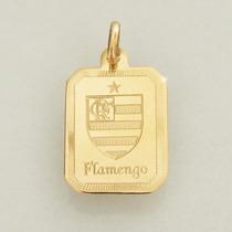 Pingente Flamengo Ouro 18k 750 Com Hino Masculino E Feminino