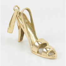 Esfinge Jóias - Pingente Sapato Alto Maciço Em Ouro 18k 750.