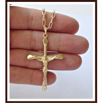 Pingente Crucifixo Em Ouro 750 *frete Grátis*