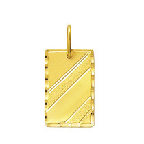 Leão Jóias Pingente Masculino Placa Em Ouro 1,6 Cm 18k