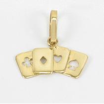 Esfinge Jóias - Pingente Cartas Baralho Ouro Amarelo 18k 750