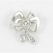 Esfinge Jóias - Pingente Laço Diamantes Ouro Branco 18k 750.
