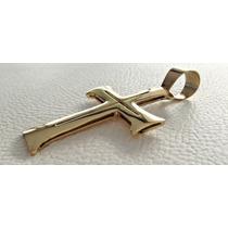 Pingente Ouro 18k De Cruz Cruzifixo Modelo Centurião Romano
