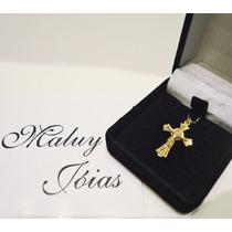Maluyjoias! Pingente Crucifixo Ouro Amarelo18k Tenho H.stern