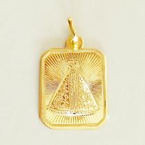 Pingente Nossa Senhora Aparecida Ouro 18k 750 Gravação Joia