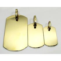 Pingente De Placa Em Ouro 18k 750 Promoção