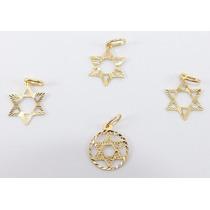 Pingente Estrela De Davi Ouro 18k 750 Cerificado