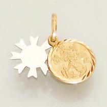 Medalha Nossa Senhora Desatadora De Nós De Ouro 18k 750
