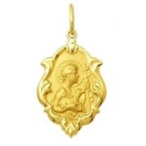 Medalha Religiosa São João Em Ouro 18k Classico 1,5cm 0,70g
