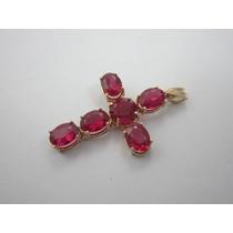 Antigo E Vistoso Crucifixo - Ouro 14k - 4.92gr