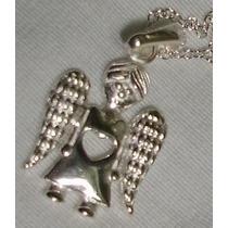 Pingente Prata 925 Anjo Apaixonado