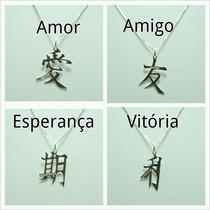 Pingente Simbolo Japonês(varios Modelos) Prata 925.f. Grátis