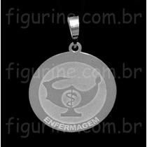 Pingente Simbolo Enfermagem / Profissão Em Prata 925!