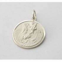 Lindo Pingente Com Medalha De Santo Em Prata 925