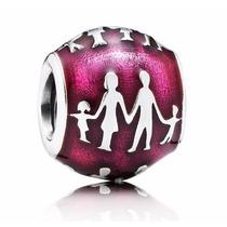 Charm Berloque Europeu Pandora Vivara Prata 925 Familia
