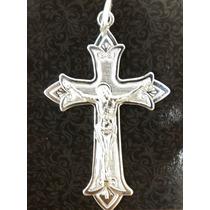 Crucifixo Folheado Em Prata 925