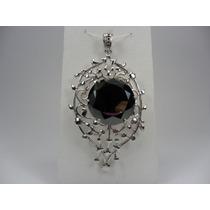 Jóia - Pingente Diamante Negro Moissonite 167cts Prata 925