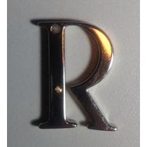 Pingente Letra R Em Prata Com Detalhe Em Ouro 18k