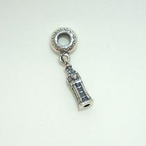 Berloque Charm De Prata De Lei 925 Relógio Big Ben Pandora