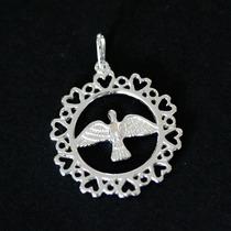 Pingente De Prata 925 Sagrado Espirito Santo